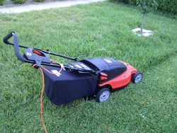electric mower by Mike Prosser